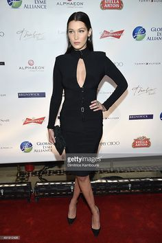 Bella Hadid attends the Global Lyme Alliance 'Uniting for a Lyme-Free World' Inaugural Gala at Cipriani 42nd Street on October 8, 2015 in New York City.