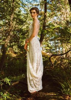 A lace wedding dress created for the free spirited bride who wants a boho backless gown for her wedding! Try unique wedding dresses in our Vancouver bridal shop Light Wedding Dresses, Backless Lace Wedding Dress, Backless Gown, Wedding Gowns, Lace Dress, Ivory Wedding, Tulle Wedding, Wedding Rings, Wedding Dresses Vancouver