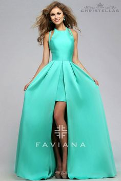 Channel your inner Taylor Swift! Faviana 7752E Dress / $418 - Shop the look at www.christellas.com #prom #dresses #Faviana