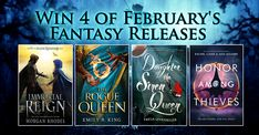 #Win 4 #February #Fantasy Releases in this Awesome #Giveaway
