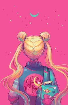she is the one named sailor moon~~ Sailor Moons, Sailor Moon Crystal, Cristal Sailor Moon, Sailor Moon Usagi, Sailor Moon Art, Sailor Uranus, Sailor Jerry, Art Anime Fille, Anime Art Girl