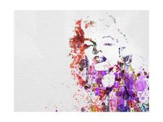 Metal Print: Marilyn Monroe by NaxArt : 16x12in
