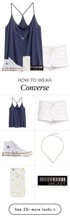Thx SO Much for 2k! by panda-matowi0715 on Polyvore featuring HM, Forever 21, Kate Spade, Converse and Kendra Scott