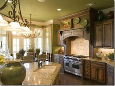 Get all the info you'll need on French country kitchen cabinets, and create an elegant kitchen design in your home. Country Kitchen Cabinets, Country Kitchen Designs, French Country Kitchens, Rustic Cabinets, French Country Decorating, Oak Cabinets, Country French, Country Style, French Style