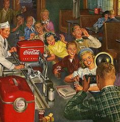 Items similar to Vintage Coca Cola Soda Shop Magazine Advertisment/ Coke Bottles/Flowers /Coke Bottles/ on Etsy