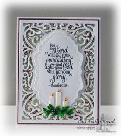 Our Daily Bread Designs Stamp set: Everlasting Light, Our Daily Bread Designs Paper Collection: Christmas Card 2015, Our Daily Bread Designs Custom Dies: Vintage Flourish Pattern, Windowsill Candles