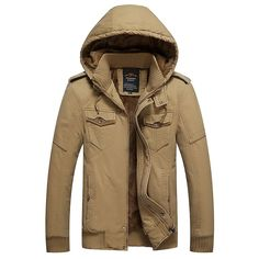 (79.60$)  Buy here - http://ai15s.worlditems.win/all/product.php?id=32785975451 - High Quality men's Fleece Jacket Coat Winter Fashion Plus Size Thicken Hood Casual Jacket Coat For Men Pull Homme L~4XL D20F8936