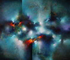Colorful Painting Series Santa Fe Large abstract contemporaryTexas Dallas Houston Austin California New York Art - Cody Hooper Art