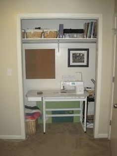 Sewing closet; great for small spaces!