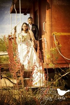 Wedding at an old train station