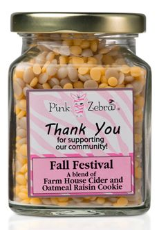 Pink Zebra at Home - A gourmet blend of Farm House Cider and Oatmeal Raisin Cookie Fundraiser Items!
