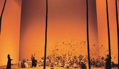 Robert Carsen's idea of the harvest celebrations in the first act of Tchaikowskij's Onegin. (Met, 2007)