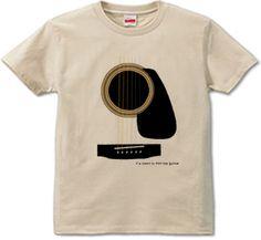 アコースティックギター : 蠢き屋 [半袖Tシャツ [6.2oz]] - デザインTシャツマーケット/Hoimi(ホイミ)