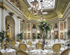 the ritz hotel london - world famous afternoon tea. if you don't turn up in a nice dress, they turn you down.