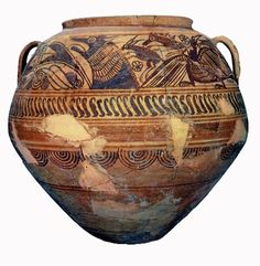Vasija en barro cocido,torneado.  Siglo VIII a.c.  Valle del Ebro  España