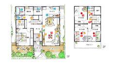 House Layouts, Floor Plans, Diagram, House Design, Japan, Homes, Houses, House Floor Plans, Home