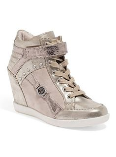 GUESS Stars Wedge Sneakers | GuessFactory.com