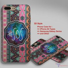 5 second of summer 5 sos aztec chevron - Personalized iPhone 7 Case, iPhone 6/6S Plus, 5 5S SE, 7S Plus, Samsung Galaxy S5 S6 S7 S8 Case, and Other