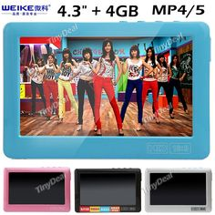 "http://www.tinydeal.com/it/weike-wk-m926-43-touch-screen-4gb-mp5-player-w-tf-card-slot-p-80284.html (WEIKE) WK-M926 4.3"" Resistive Touch Screen 4GB Media Player MP4 MP5 Player"