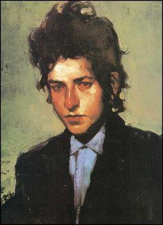 malcolm t. liepke. portrait of bob dylan.