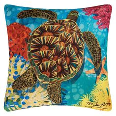 C and F Enterprises 18-in. Square Indoor/Outdoor Pillow - Turtle - 85145021