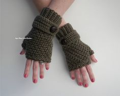 Sophie Fingerless Gloves CROCHET PATTERN Pdf File by SugarMamaShop, $3.80