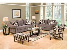 Castleberry Living Room Group Features Includes Sofa Loveseat Chair Ottoman Coffee Table 2 End Tables Lamps
