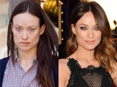 Olivia Wilde-okay she's like the most beautiful actress right now. but I cant believe how bad she needs make up