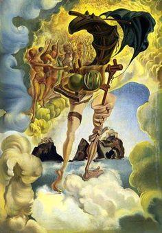 Salvador Dali - Allegory of Sunset Air Salvador Dali Gemälde, Salvador Dali Paintings, Salvador Dali Quotes, Art Visionnaire, Les Religions, Spanish Artists, Art Moderne, Fantastic Art, Magritte