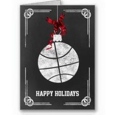 Shop chalkboard basketball player Christmas Cards created by XmasMall. 3f03a20f8