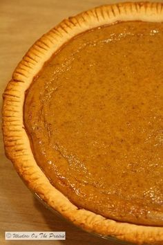 Homemade pumpkin pie....made with fresh, not canned pumpkin