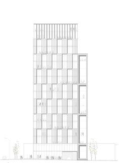Design Competition 2014 for Office Building Fibra Navarrete. San Isidro, Lima (Perú). allende arquitectos 3rd Prize