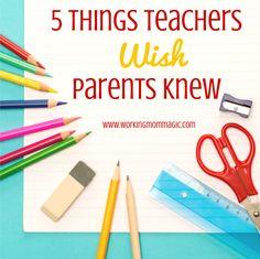 Working Mom Magic: 5 Things Teachers Wish Parents Knew School Supplies Highschool, Highschool Freshman, Gentle Parenting, Parenting Advice, School Items, Parents As Teachers, Home Schooling, Working Moms, Teaching Tips