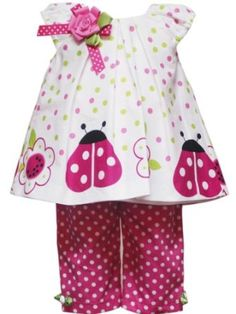 Rare Editions Baby-Girls Infant Ladybug Border Capri Set $29.40