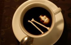 Forget sugar cubes, use skull and cross bones in your cup of joe