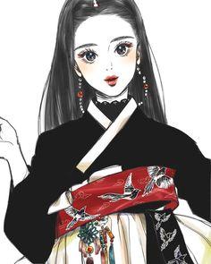 쉬는 동안 그림 좀 그리려고 노트북을 챙기긴 챙겼는디🤦🏻♀️ #까치#sketch#drawing#그림#한복#생활한복#일러스트#illustration#イラスト#낙서#연필#black Korean Traditional, Traditional Outfits, Chinese Drawings, Korean Hanbok, Manga Drawing, Best Face Products, Face Art, Illustrations, Asian Art