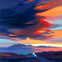 gorgeous pam carter sunset print