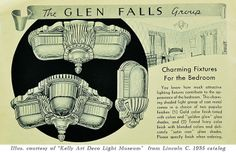 Lincoln Glen Falls Art Deco Wall Sconce (352-ES) - Vintage Hardware and Lighting
