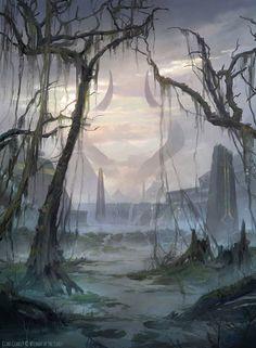 Swamp - MTG by ClintCearley.deviantart.com on @DeviantArt