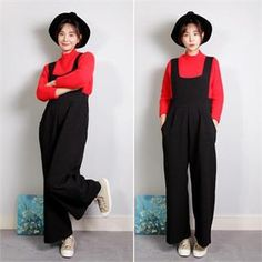 Buy 'ELLASOO – Suspender Wide Leg Pants' with Free International Shipping at YesStyle.com. Browse and shop for thousands of Asian fashion items from South Korea and more!