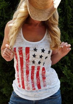 4th of July Memorial Day American Flag Tank Top. Patriotic. Red White and Blue. Running Tank. Fitness shirt. Burnout Workout Tank.