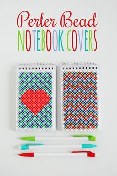 Pearler Bead Notebook Covers