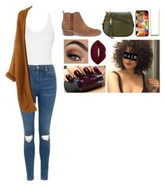 """""""fall vibes🍁🍂🌻"""" by sarcasm-central ❤ liked on Polyvore featuring Topshop, Michael Kors, Marc Jacobs and Me & Zena"""