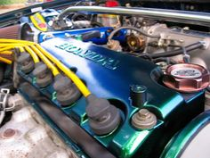 1.6 SOHC painted valve cover (Honda Civic LX) #painted #closeup #sohc #1.6litre #honda