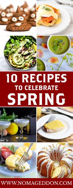 Brace yourselves. Spring is coming. Here are 10 recipes: Poop Peeps, Smoked Salmon Eggs Benedict With Dill Waffles, Green Goddess Fig Nourish Bowls, Vegan Asparagus & Watercress Soup, Champagne Orange Curd, Crunchy Sweet and Spicy Chicken Tenders with Noodle Salad, Cheesy Crustless Kale Quiche, Cheesy Ham Asparagus Egg Muffin Cups, Thyme To Shine Cocktail, The Ultimate Lemon Cake Recipe (Best Lemon Pound Cake Recipe). With a list like that, how could you go wrong?