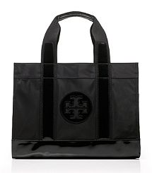 Tory Burch Nylon Tory Tote. Love this one for space. Black keeps it classic.