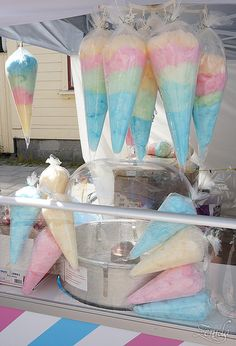 loving cotton candy + kids party + Bday fun + it's your birthday + goin' party Unicorn Birthday Parties, Unicorn Party, Cotton Candy Party, Cotton Candy Sticks, Rainbow Parties, Candy Floss, Ice Cream Party, Candy Store, Bake Sale