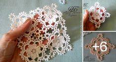 motivo crochet flor Thread Crochet, Crochet Granny, Crochet Motif, Crochet Flowers, Easy Crochet, Crochet Patterns, Crochet Projects, Sewing Projects, Japanese Crochet