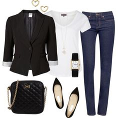 Dressy casual outfit created by tsteele Only part don't like is pointed toe shoes. Source by Casual Outfits Mode Outfits, Fashion Outfits, Womens Fashion, Fashion Trends, Dressy Casual Outfits, Smart Casual Dinner Outfit, Dressy Casual Summer, Casual Wear, Outfit Chic