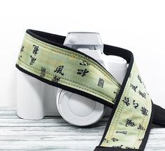 dSLR Camera Strap Oriental Asian Green Gold Canon Nikon by ten8e